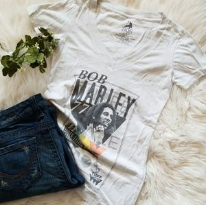 ZION Rootswear | Bob Marley Graphic Tshirt | Vneck